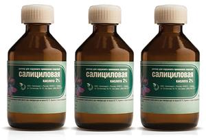 Наружное применение салициловой кислоты