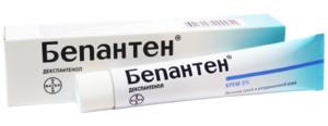 Крем Бепантен поможет избавиться от раздражения на коже и других проявлений дерматита.